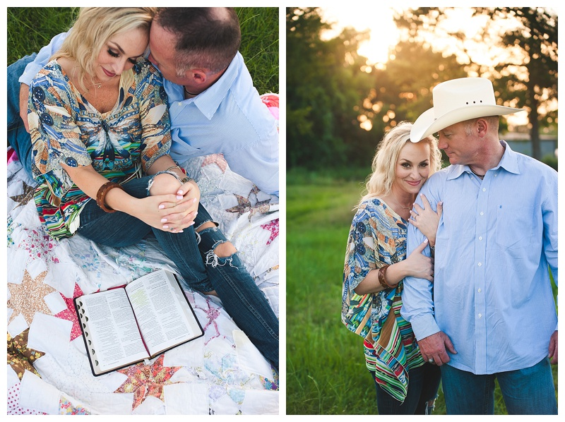 Tara+Lance Country Engagement Session in Bryan TX