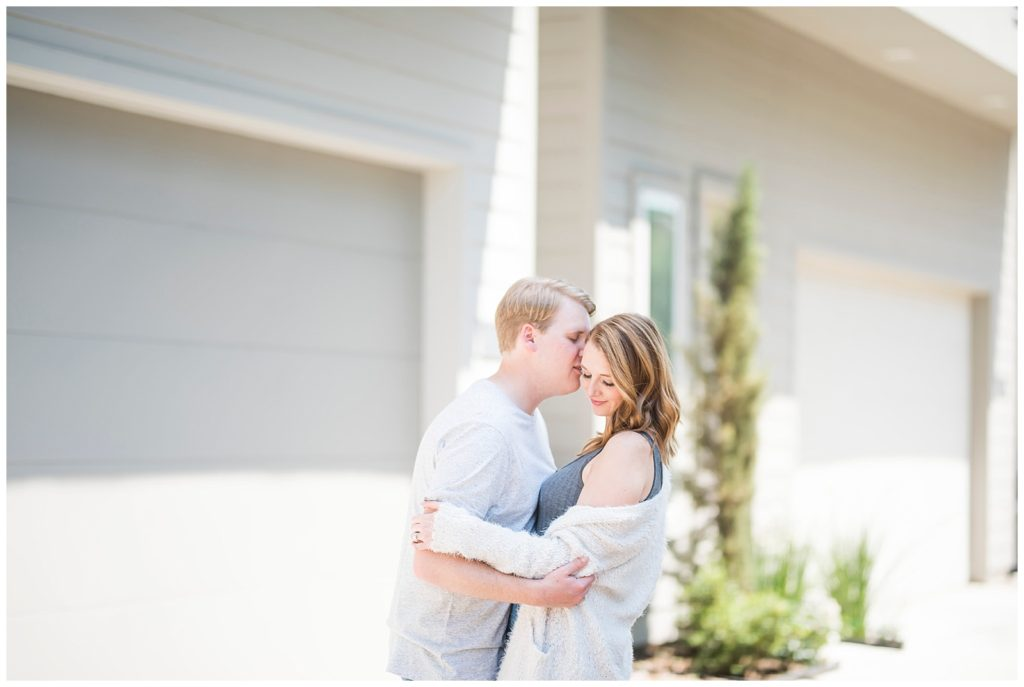 Ellen & Cameron Home Engagement Session, Houston TX Engagement Session, Rachel Driskell Photography