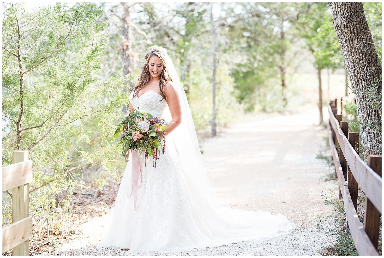 sarah's bridal session at peach creek ranch in college station tx by rachel driskell photography