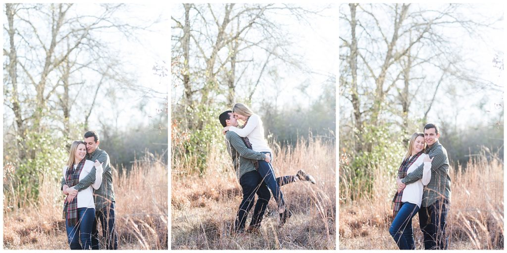 Katie & Mitch's Lick Creek Park Engagement Session in College Station, TX, Rachel Driskell Photography