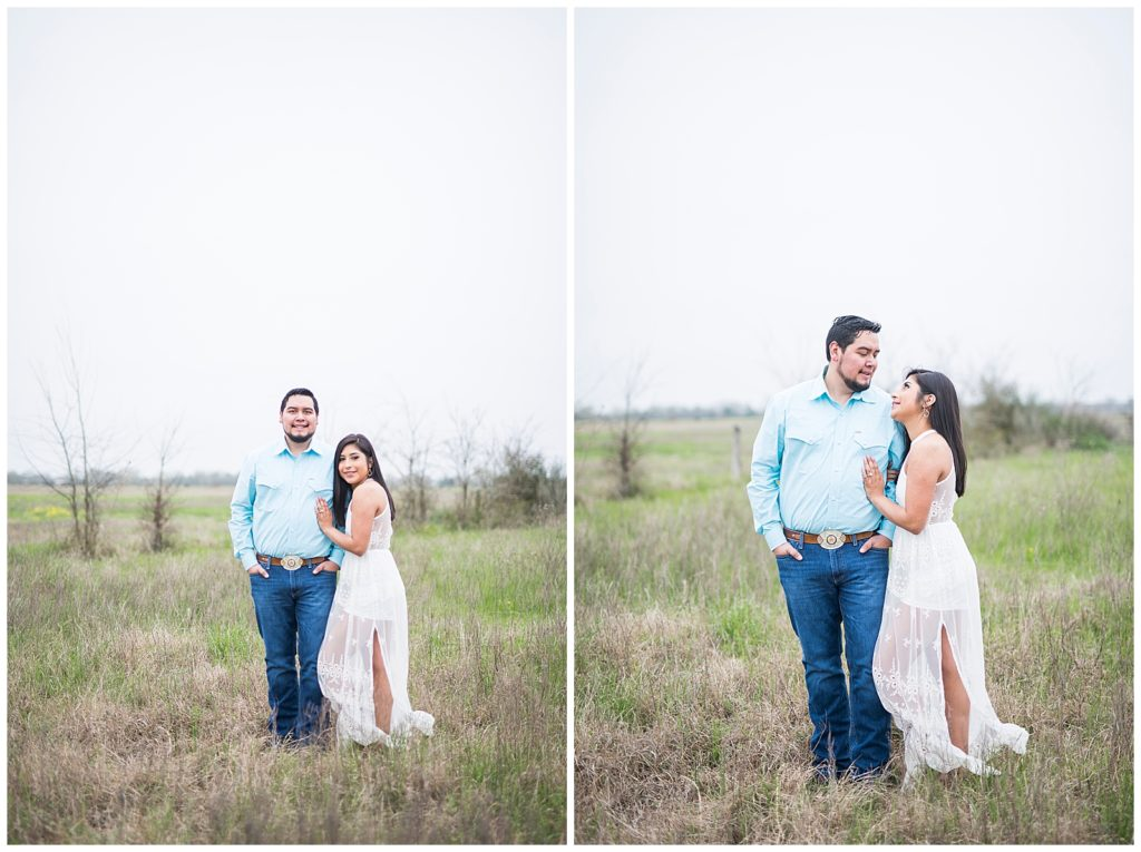 Norma & Santos Engagement Session at Brownstone Reserve in Bryan, TX with Rachel Driskell Photography