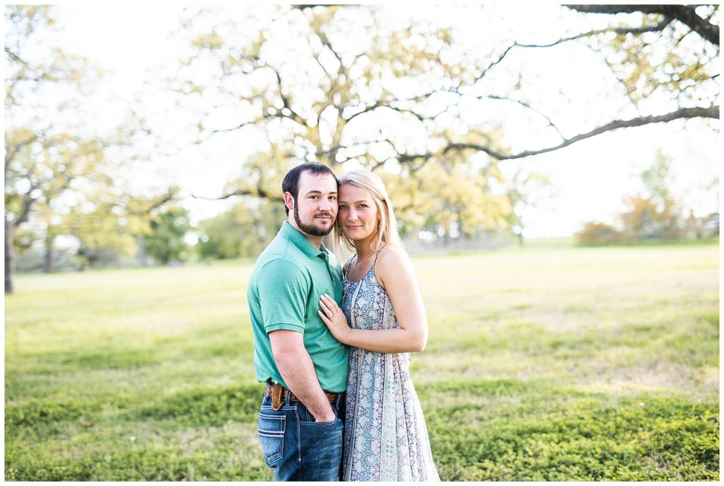Shelby and Kody's Engagement Session in College Station, TX with Rachel Driskell Photographer