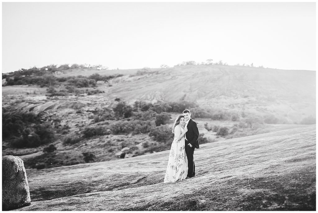 Karly & Zach's Engagement Session at Enchanted Rock in Fredericksburg, TX with Rachel Driskell Photography