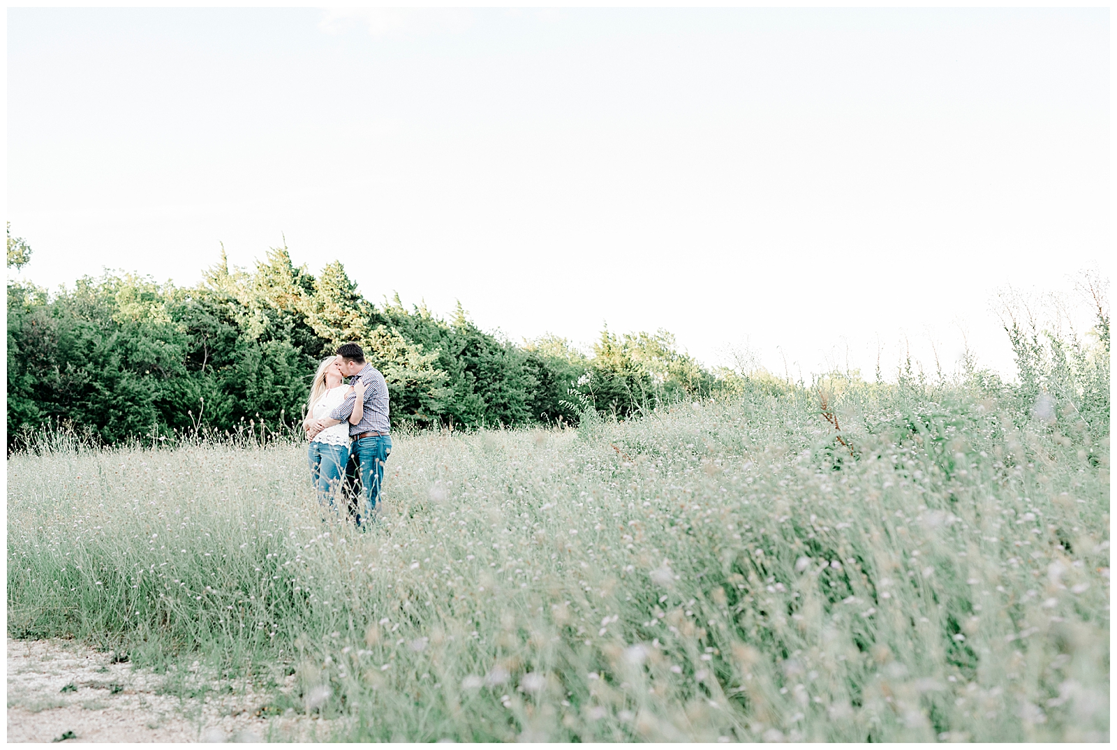 Jessica & Ryan's Engagement Session at Arbor Hills Nature Preserve with Rachel Driskell Photography