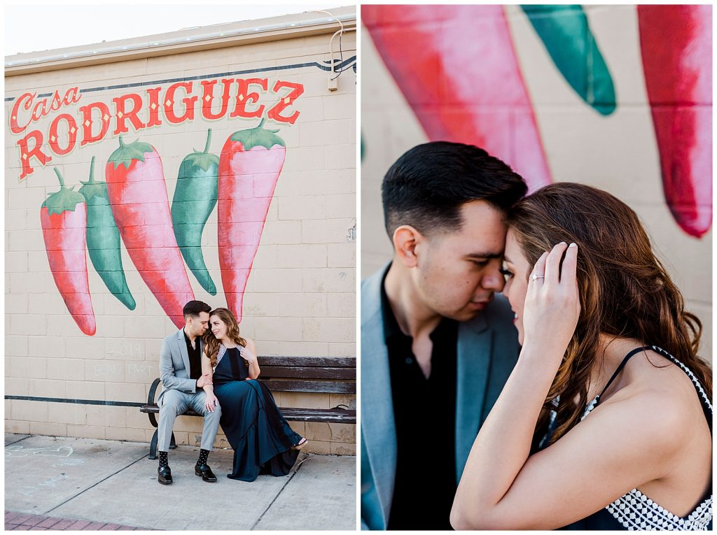 Lauren & Michael's Downtown Bryan Engagement Session with Rachel Driskell Photography