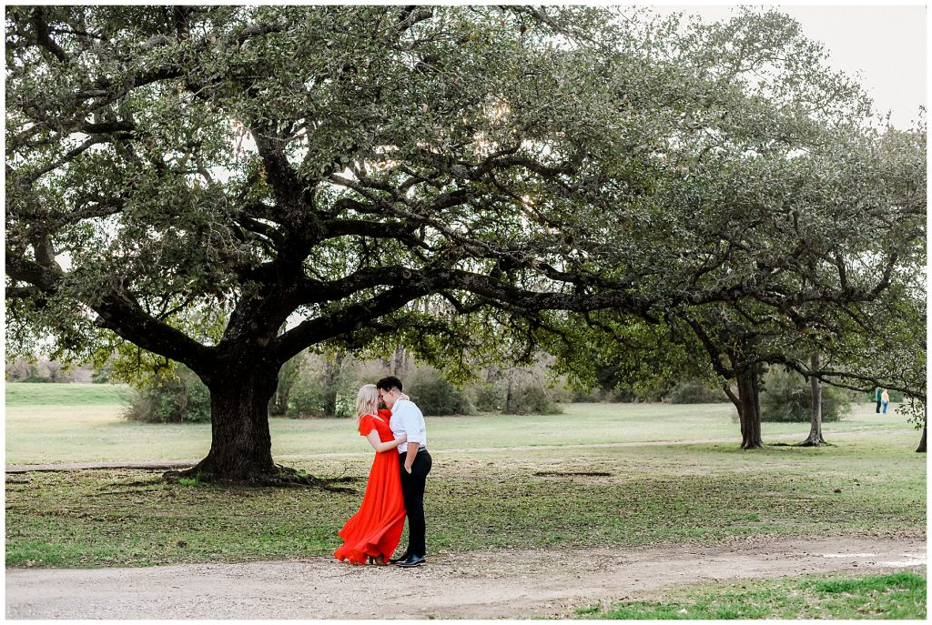 Catherine & Daniel's beautiful spring Engagement Session at Hensel Park in College Station TX with Rachel Driskell Photography