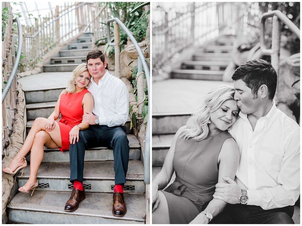 Emily & Ross's Engagement Session at the Myriad Botanical Gardens & Downtown OKC with Rachel Driskell Photography