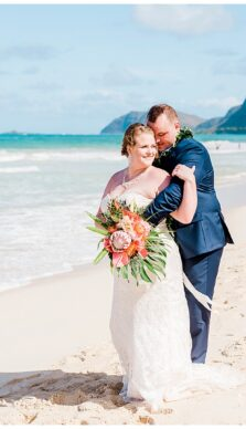 Hayley & Luke's Hawaiin Wedding in Oahu with Rachel Driskell Photography