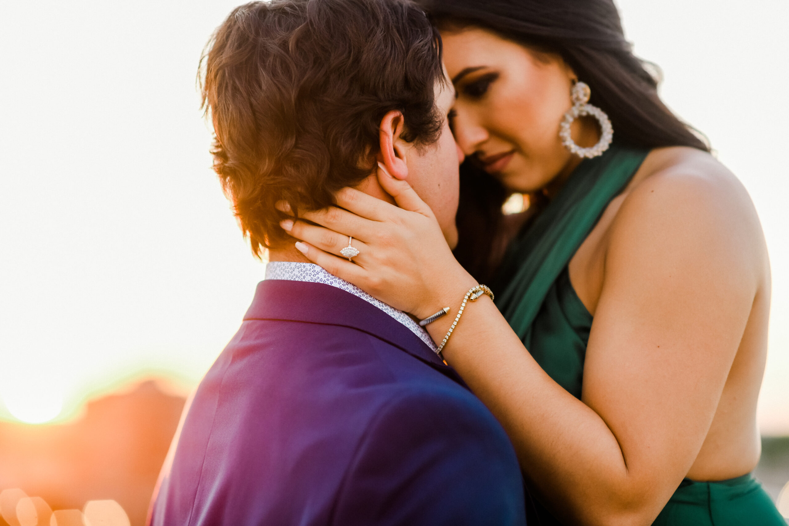 Haley & Rustin's Engagement Session in Historic Downtown Parking Garage with in Bryan, TX