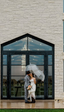 Jenna & Caleb's rainy spring Wedding at The Ranch House in Caldwell Texas with Rachel Driskell Photography