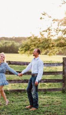 Ashley & Ty's Engagement Session at Old Baylor Park in Brenham, TX