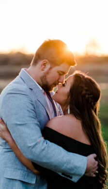 Gabbi & Tanner's sunset engagement session at their family farm in Nechanitz, Texas with Rachel Driskell Photography