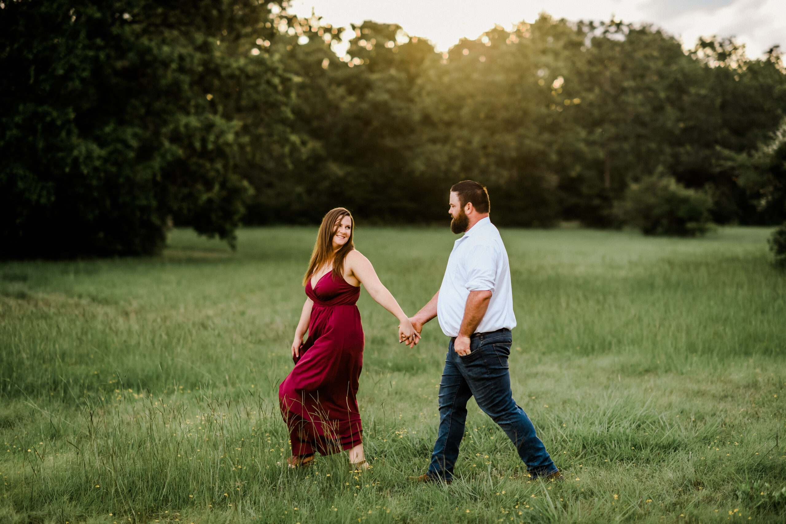 Bethany & Chris's Hensel Park Engagement Session in College Station Texas with Rachel Driskell Photography