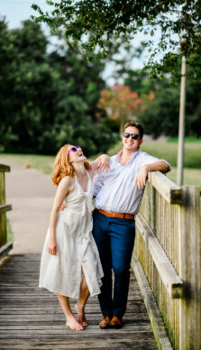 Shelby & Sam's Engagement Session at Brison Park in College Station, TX with Rachel Driskell Photography