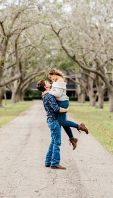 DeLanie & Dalton's Engagement Session at The Orchard at Caney Creek in Wharton, TX with Rachel Driskell Photography