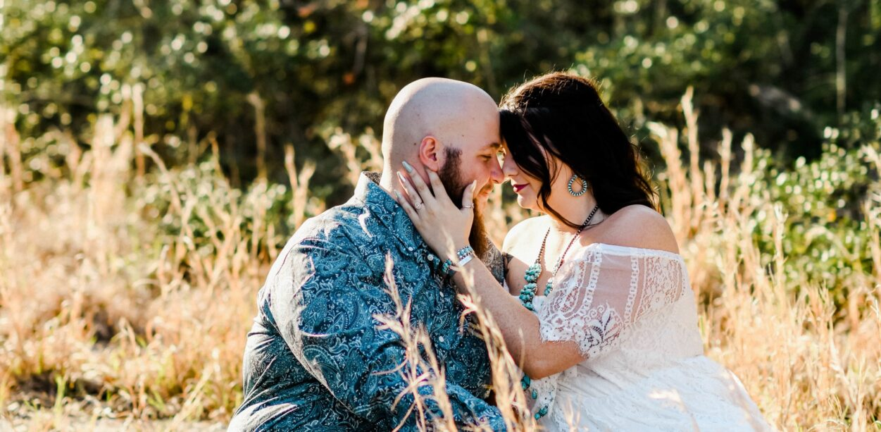 Katie and Ryan's Peach Creek Ranch Engagement Session in College Station, TX with Rachel Driskell Photography