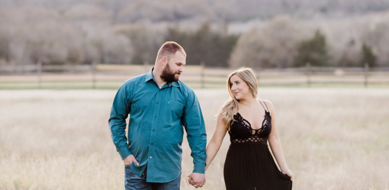Abbie + Dustin's Old Baylor Park Engagement Session in Brenham, TX with Rachel Driskell Photography